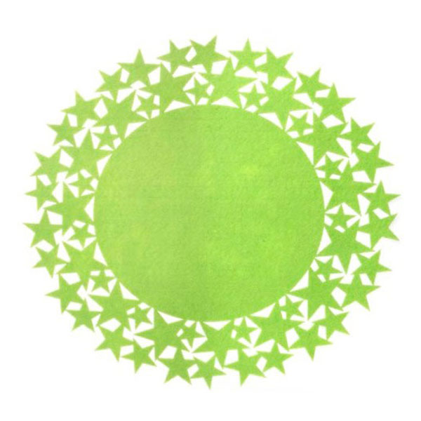 green_felt_star_placemat
