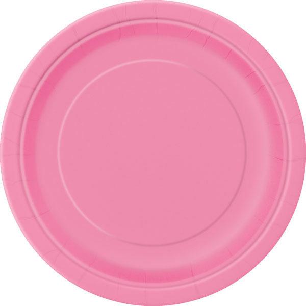 plain_hot_pink_plates