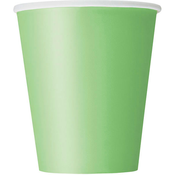 plain_lime_green_cups