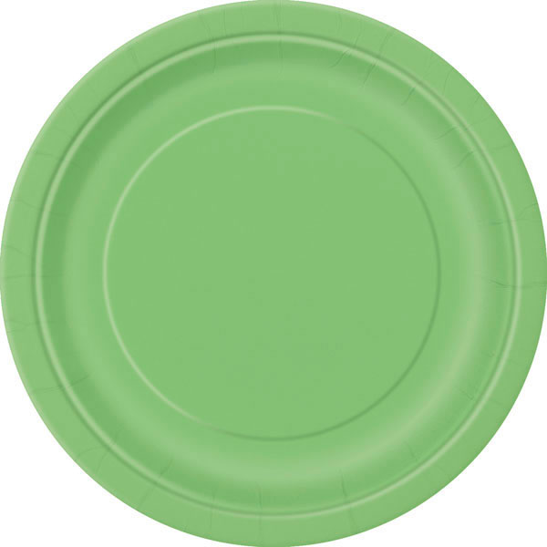 plain_lime_green_plates