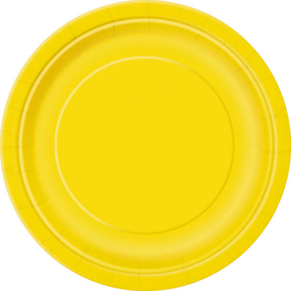 plain_sunflower_yellow_plates