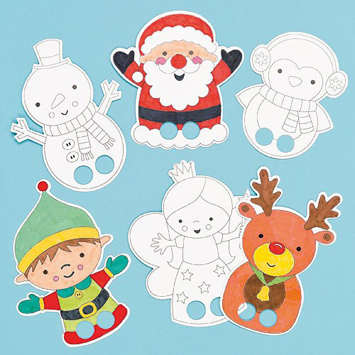 colour_in_finger_puppets_christmas