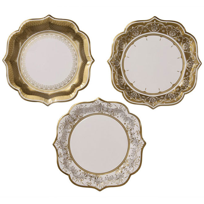 party_porcelain_gold_plates