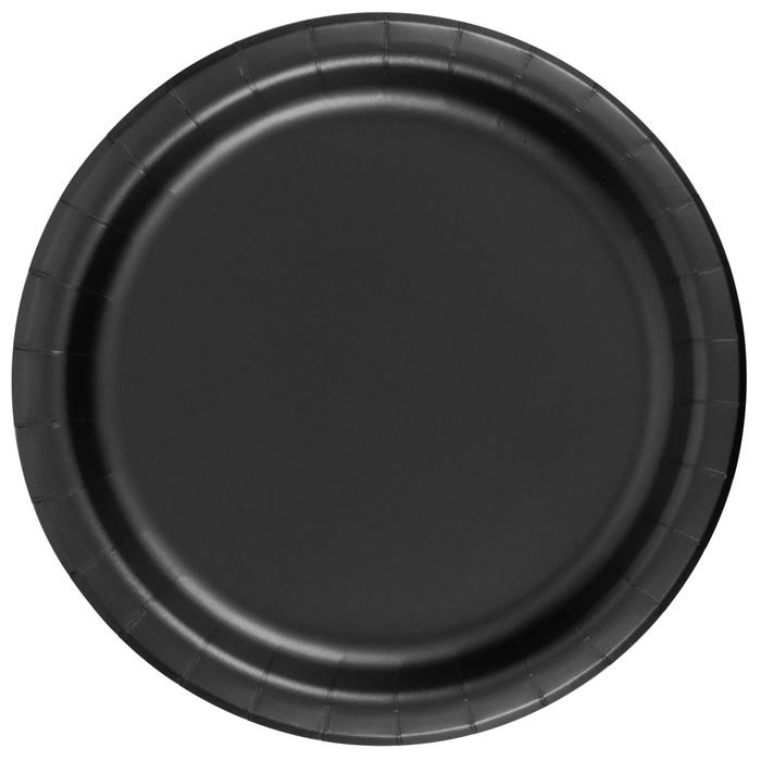 black_paper_plates