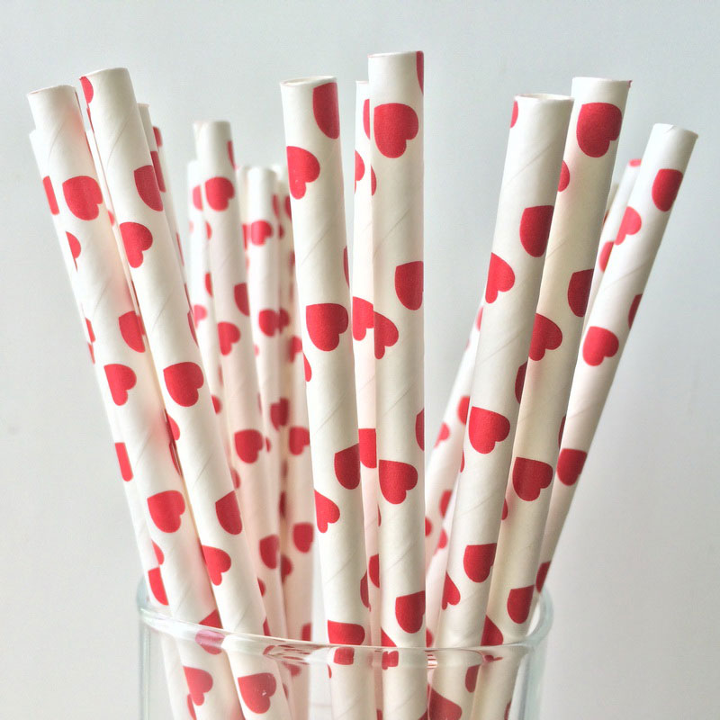 heart on a paper straw paper straws hearts the pirate 6703